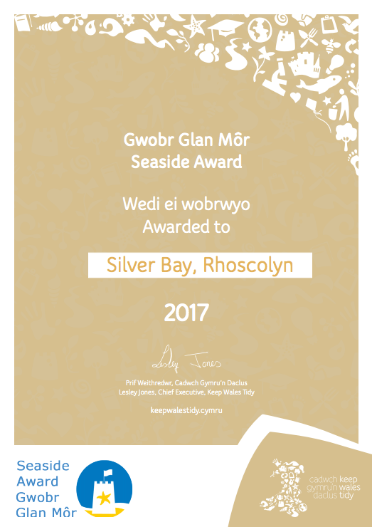 Silver Bay Seaside Award Anglesey