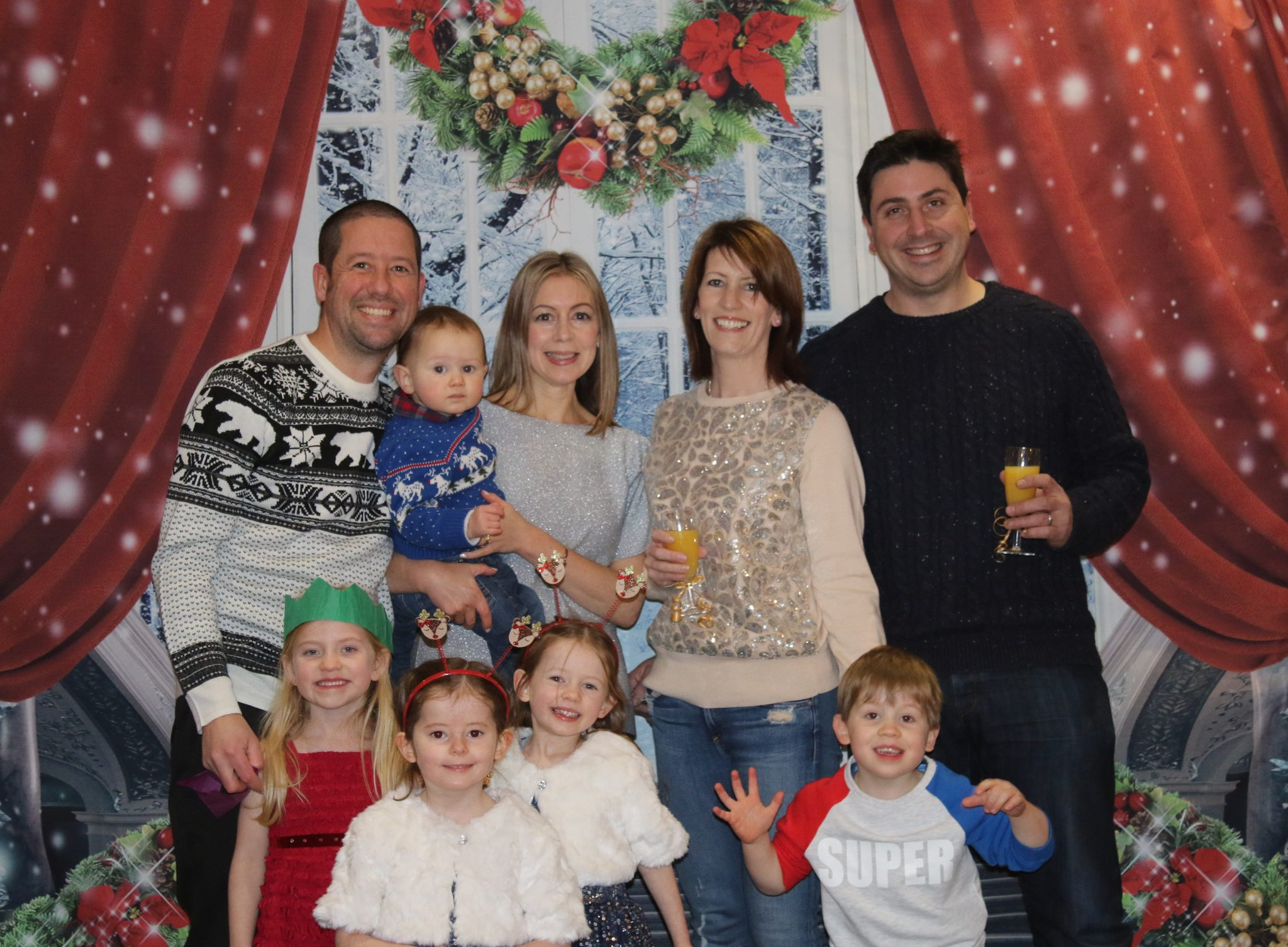 Family at the Silver Bay Holiday Village Christmas party in 2017