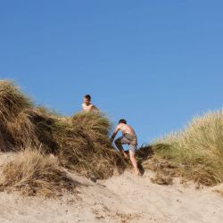 silver-bay-holiday-village-anglesey-busy-bayers-sanddune-climbing