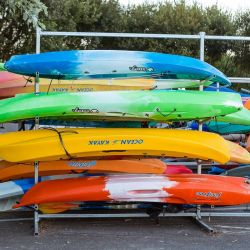 silver-bay-holiday-village-anglesey-coloured-canoes