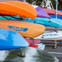 silver-bay-holiday-village-anglesey-range-of-canoes