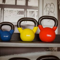 silver-bay-holiday-village-anglesey-spa-and-leisure-weights-kettlebells-red-yellow-blue