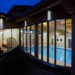silver-bay-holiday-village-anglesey-spa-evening-exterior