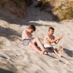 silver-bay-holiday-village-anglesey-two-boys-on-silver-bay-beach